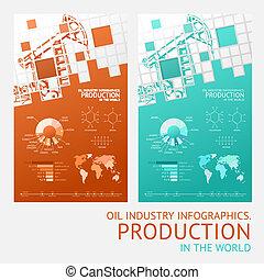 Oil infographic design. - Oil infographic design with mosaic...