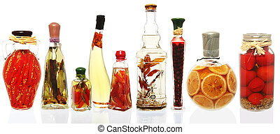 Oil Infusions and Preserves - Variety of oil infusions and...