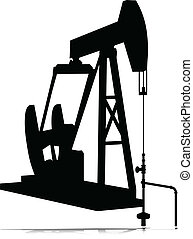 oil jack vector silhouettes