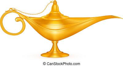 Oil lamp, vector
