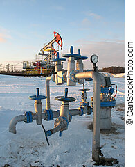Oil latch - Oil extraction. Oil industry. Construction and ...