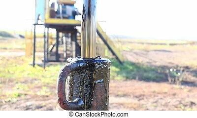 oil leak - spilled oil from wells on land