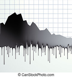 Oil loss of price graphic