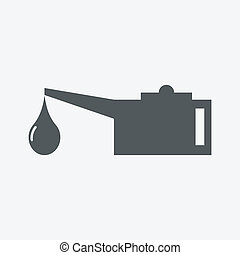 Oil lubricator icon
