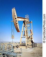 Oil machine rocking.