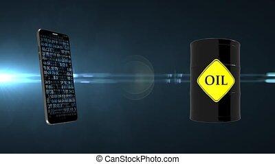Oil. Market. The price of oil. Online market for oil sales....