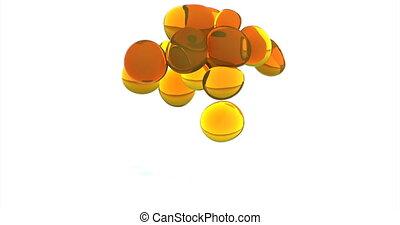 Oil metaball Fluid shape background 4k
