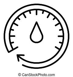 Oil meter icon, outline style