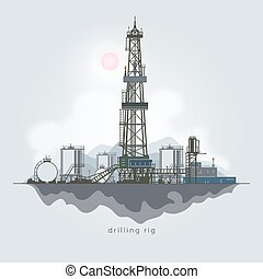 Oil or Natural Gas Drilling Rigs - Drilling Rig in the...