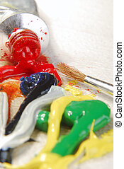 oil paint mixing