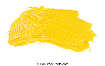 oil paint spot isolated on white