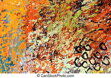 oil painting on canvas - brush strokes, detail of...