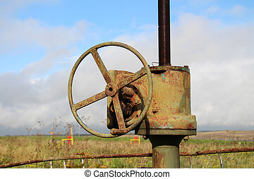 oil pipeline and valve