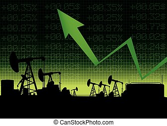 Oil price growth illustration