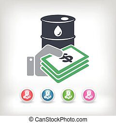 Oil price icon