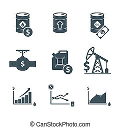 oil price icon set