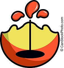Oil production icon, cartoon style