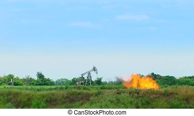 Oil Production In The Middle Of Nature