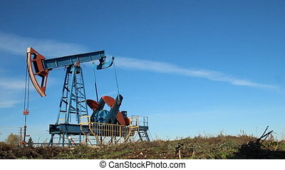 Oil production. oil pumps