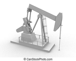 oil pump - 3d rendered illustration of working oil pump