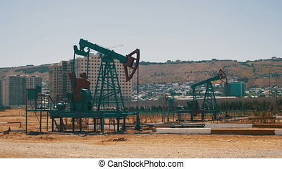 Oil Pump. Extraction of Oil Pumping Station - Oil Pump,...