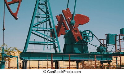 Oil Pump. Extraction of Oil Pumping Station