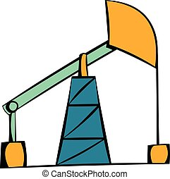 Oil pump icon, icon cartoon