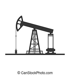 Oil Pump Icon on White Background. Vector