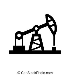 Oil Pump Icon on White Background. Vector.
