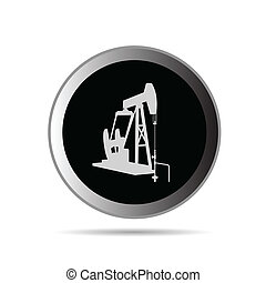 oil pump in circle symbol vector illustration