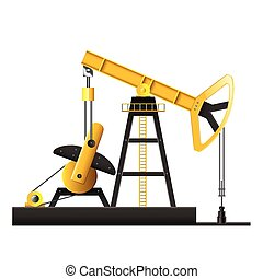 Oil pump isolated on white vector - Oil pump isolated on...