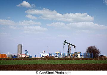 oil pump jack in oilfield