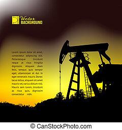 Oil pump jack. - Oil pump jack silhouette design. Vector ...