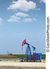 oil pump jack on field industry