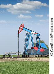 oil pump jack on oilfield