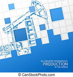 Oil pump mosaic card. - Oil pump mosaic card for your design...