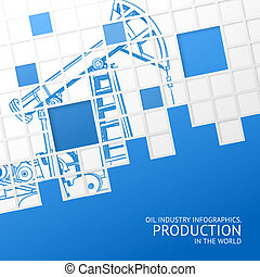 Oil pump mosaic card. - Oil pump mosaic card for your...