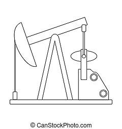 Oil pump. Oil single icon in outline style vector symbol stock illustration web.