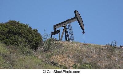Oil pump on a hill