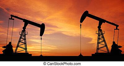 Oil pump oil rig energy industrial machine for petroleum in...