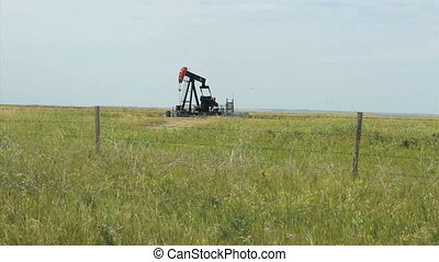 Oil Pump Pumping Oil - A faithful oil pump works tirelessly...