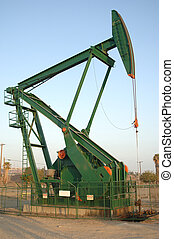 Oil pump rig in daylight - A new oil pump rig shot in...