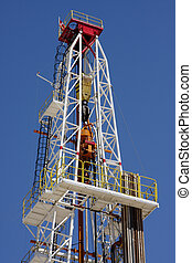 Oil pump estractor isolated on blue sky