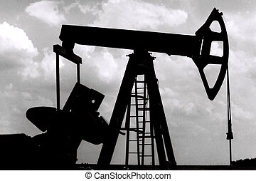 oil pump in vojvodina, serbia