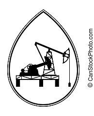 Oil pumpjack derrick illustration
