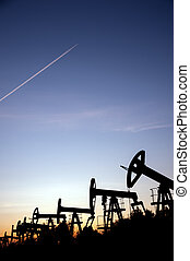 Oil pumps and airplane .