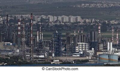 :Oil Refineries Ltd in Haifa, Israel - HAIFA, ISR - APR 21...