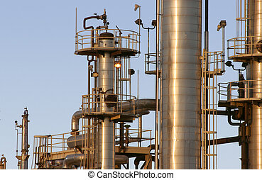 Oil Refinery #5 - The towers and piples of an oil refinery.