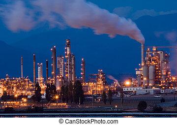 Oil refinery - Anacortes, WA oil refinery at night