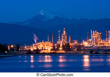 Oil refinery - Anacortes, WA oil refinery at night